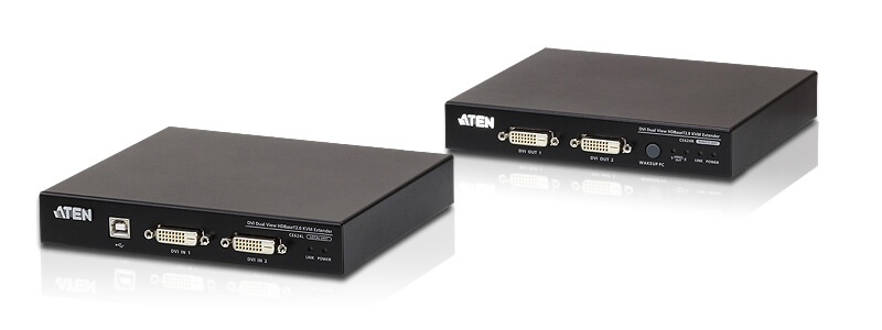 CE624 USB DVI Dual View HDBaseT™ 2.0 KVM Extender (1920 x 1200 @100 m)