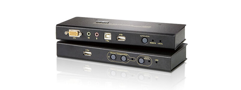 CE800B USB VGA/Audio Cat 5 KVM Extender with USB Flash Storage (1024 x 768@250m)