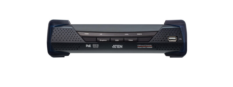 KE6912 2K DVI-D Dual Link KVM over IP Extender with PoE