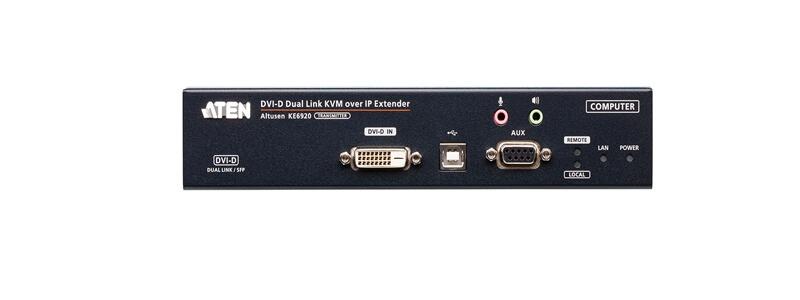 KE6920T 2K DVI-D Dual-Link KVM over IP Transmitter with Dual SFP