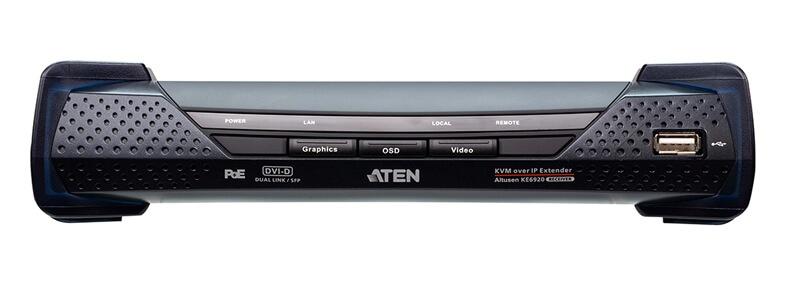 KE6912R 2K DVI-D Dual Link KVM over IP Receiver with PoE