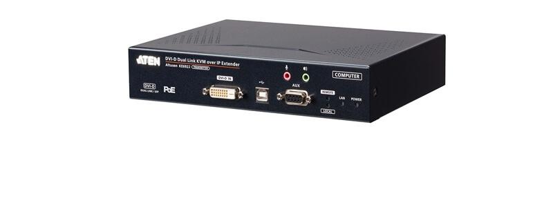 KE6922T 2K DVI-D Dual-Link KVM over IP Transmitter with Dual SFP & PoE
