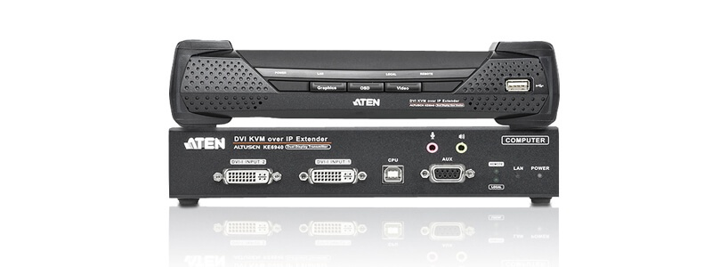 KE6940 USB DVI-I Dual Display KVM Over IP Extender