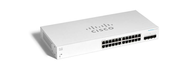 CBS220-24T-4X-EU 24 port 10/100/1000, 4 port 10G SFP+ uplink