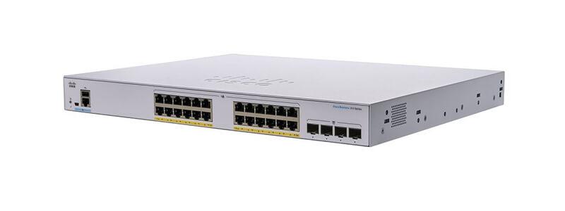 CBS250-24P-4X-EU CBS250 24 port 10/100/1000 PoE+ 195W, 4 port 10G SFP+ uplink